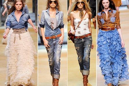 джинсовые шорты в стиле кантри